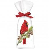 Cardinal On Pine Sachet