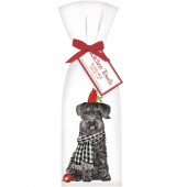 Schnauzer With Cardinal Towel Set