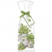 Mint Herb Jar Towel Set