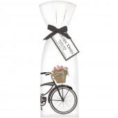 Black Bike with Flowers Towel Set