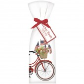 Red Bike with Flags Towel Set