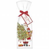Santa Ornament Tree Towel Set