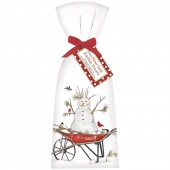 Snowman Wheelbarrow Towel Set
