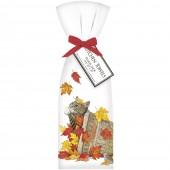 Cat Fall Basket Towel Set