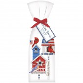 Patriotic Birdhouses Towels Set