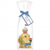 Retriever Flag Cupcake Towel Set