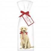 Yellow Lab With Leash Towel Set
