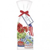 Can Flag Flowers Towel Set
