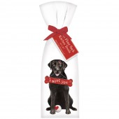 Black Lab I Woof You Towel Set