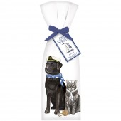 Black Lab and Cat Sailor Towel Set