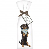 Doxie Sitting Towel Set