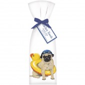Pug Swimmer Towel Set