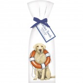 Yellow Lab with Lifesaver Towel Set