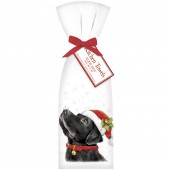 Retro Black Lab Holiday Towel Set