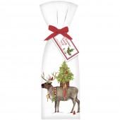 Reindeer with Tree Towel Set