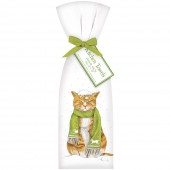 Cat in Snow Towel Set