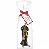 Dog Holiday Doxie Towel Set