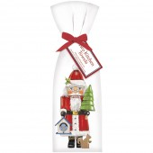 Nutcracker Santa Towel Set