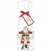Santa With Garland Towel Set