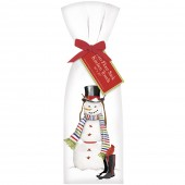 Snowman with Rainboots Towel Set