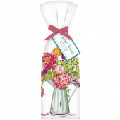 Country Flowers Vase Towel Set