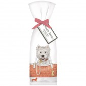 Westie In Bag Towel Set