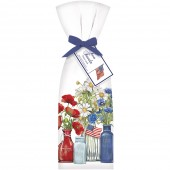 Patriotic Flowers Towel Set