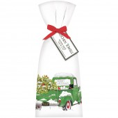 Holiday Green Truck Towel Set