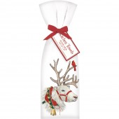 White Reindeer Towel Set