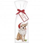 Chihuahua Santa Towel Set