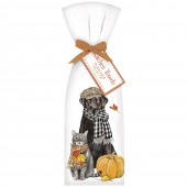 Fall Pets Scarves Towel Set