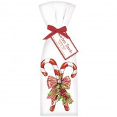 Candy Canes With Holly Towel Set