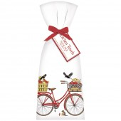 Red Bike Apple Towel Set