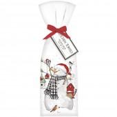 Birdhouse Snowman Towel Set