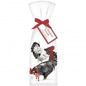 Stacked Winter Chickens Towel Set