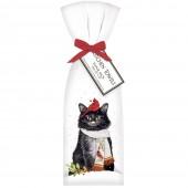 Cat Cardinal Scarf Towel Set