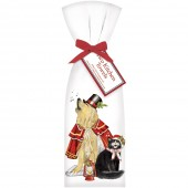 Caroling Dog And Cat Towel Set