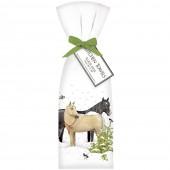 Snow Horses Towel Set