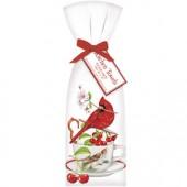 Cardinal Cherry Teacup Towel Set