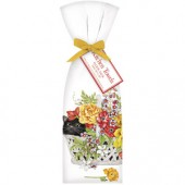 Cat Flower Basket Towel Set