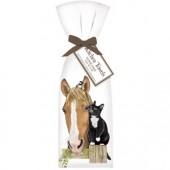 Horse And Cat Towel Set