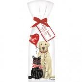 Valentines Pets Towel Set