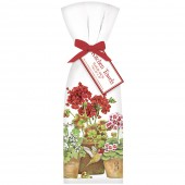 Geranium Hummingbird Pots Towel Set