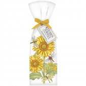 Sunflower Dragonfly Towel Set