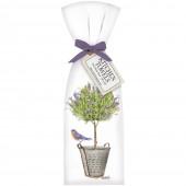Lavender Tree Bucket Towel Set