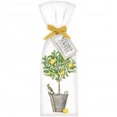 Lemon Tree Bucket Towel Set