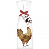 Brown Chicken Towel Set