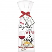 Wine And Cheese Towel Set
