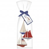 Three Sailboats Towel Set