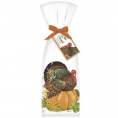 Turkey On Pumpkin Towel Set